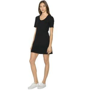 American Apparel Black t shirt dress
